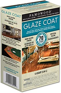 FamoWood 5050080 Glaze Coat Epoxy Kit - 1 Quart, Clear
