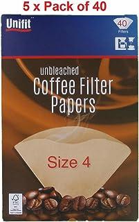 Papeles de filtro de café 200unidades), color marrón