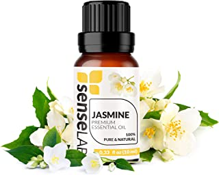 Jasmine Essential Oil - Made in India - 100% Pure Extract Jasmine Oil Therapeutic Grade (0.33 Fl Oz / 10 ml)