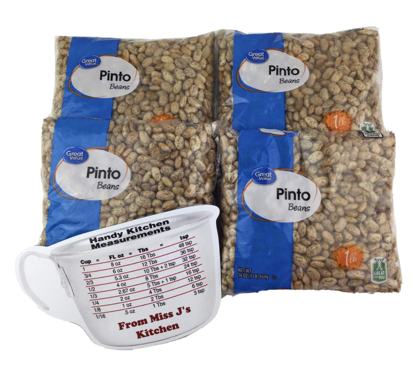 Great Max 79% OFF Value Dry Pinto Beans 4 Bags Bag 1 with Each Jâ lb Miss supreme