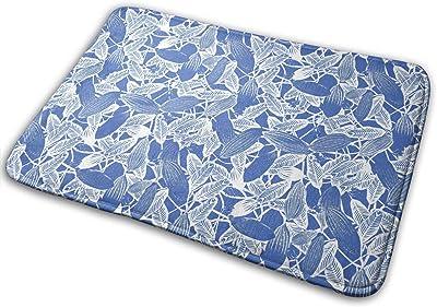 The Art of Banana Leaves Carpet Non-Slip Welcome Front Doormat Entryway Carpet Washable Outdoor Indoor Mat Room Rug 15.7 X 23.6 inch