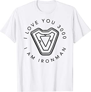 Avengers Endgame Iron Man I Love You 3000 Quote Circle Logo T-Shirt