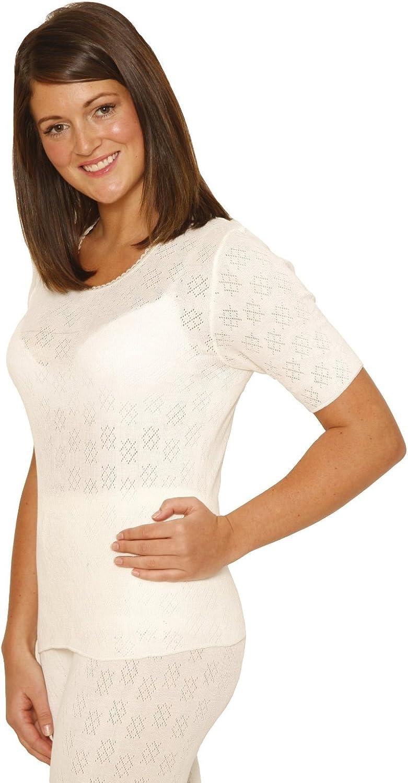Octave Ladies/Womens Thermal Underwear Short Sleeve T-Shirt/Vest/Top