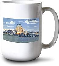 Lantern Press Indianapolis, Indiana - Weir Cook Municipal Airport Scene (15oz White Ceramic Mug)
