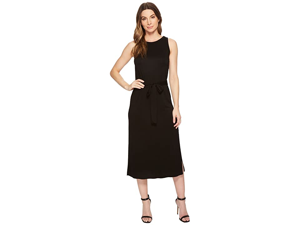 Three Dots Refined Jersey Easy Midi Dress (Black) Women