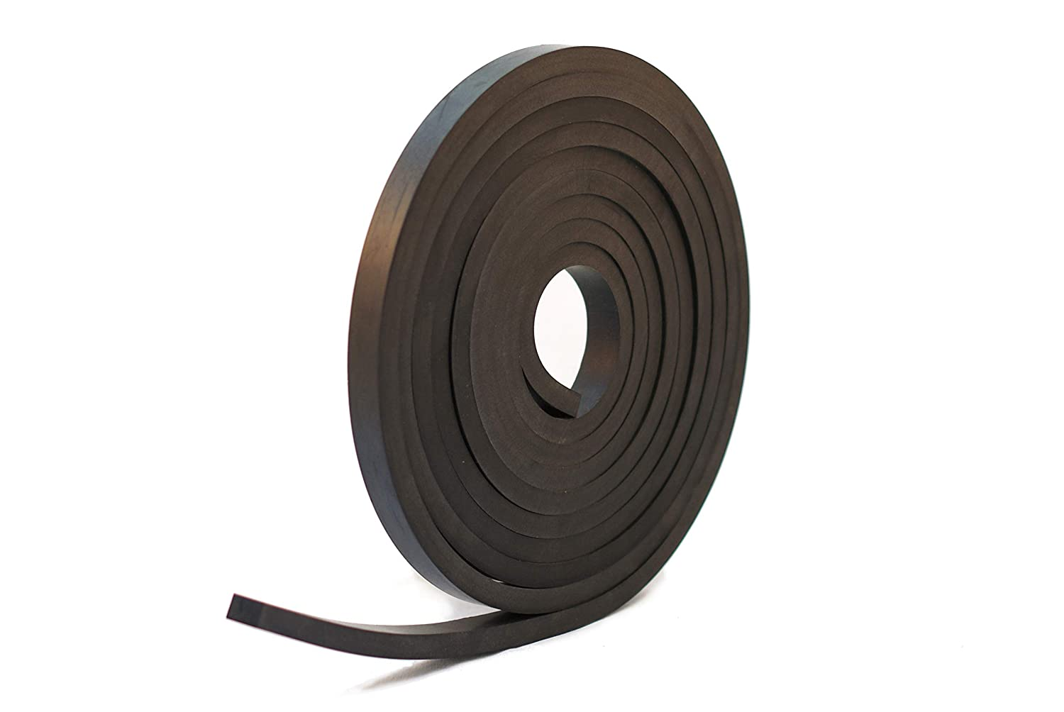 Solid Neoprene Black Rubber Strip 5//8 Wide x 3//8 Thick x 16 feet Long