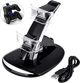 PS3 Controller Charger, Dual USB PS3 Controller Charging Station for Sony Playstation 3 / PS3 Slim / PS3 Controller Charging Dock Stand Station Compatible with PS3