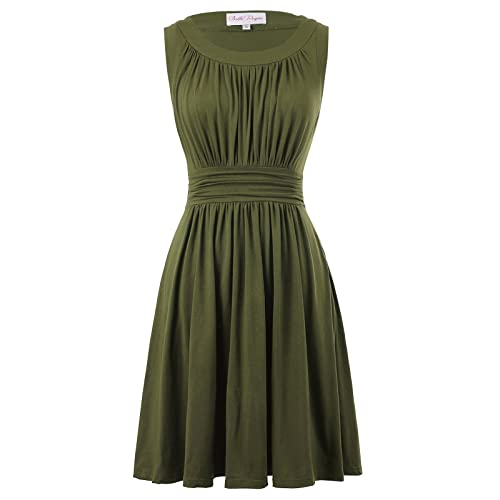 Olive Green Dress for Plus Size: Amazon.com