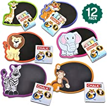 Kicko Zoo Animal Mini Chalkboard - 12 Pieces of Assorted Drawing Set - Perfect for School, Preschool, Sign Maker, Learning...