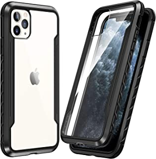SmartDevil Shatterproof Series Designed for iPhone 11 Pro Max Cases, Passed Military Grade Drop Test, Anodized Aluminum, TPU, and Hard PC Protective Case for iPhone 11 Pro Max 6.5 Inch (Black)