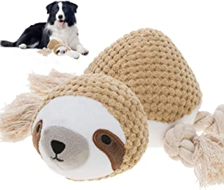 Ditucu Dog Plush Toys Sturdy Squeaky Toys with Crinkle Paper Interactive Durable Squeaky Chew Toys for Small, Medium and P...