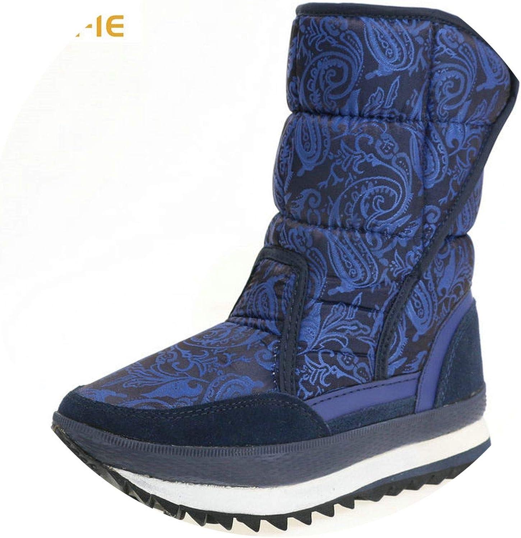 Superb Zone bluee Boots Dark cur y Warm ole Snow Boot Size Big Nice Upper no Slip