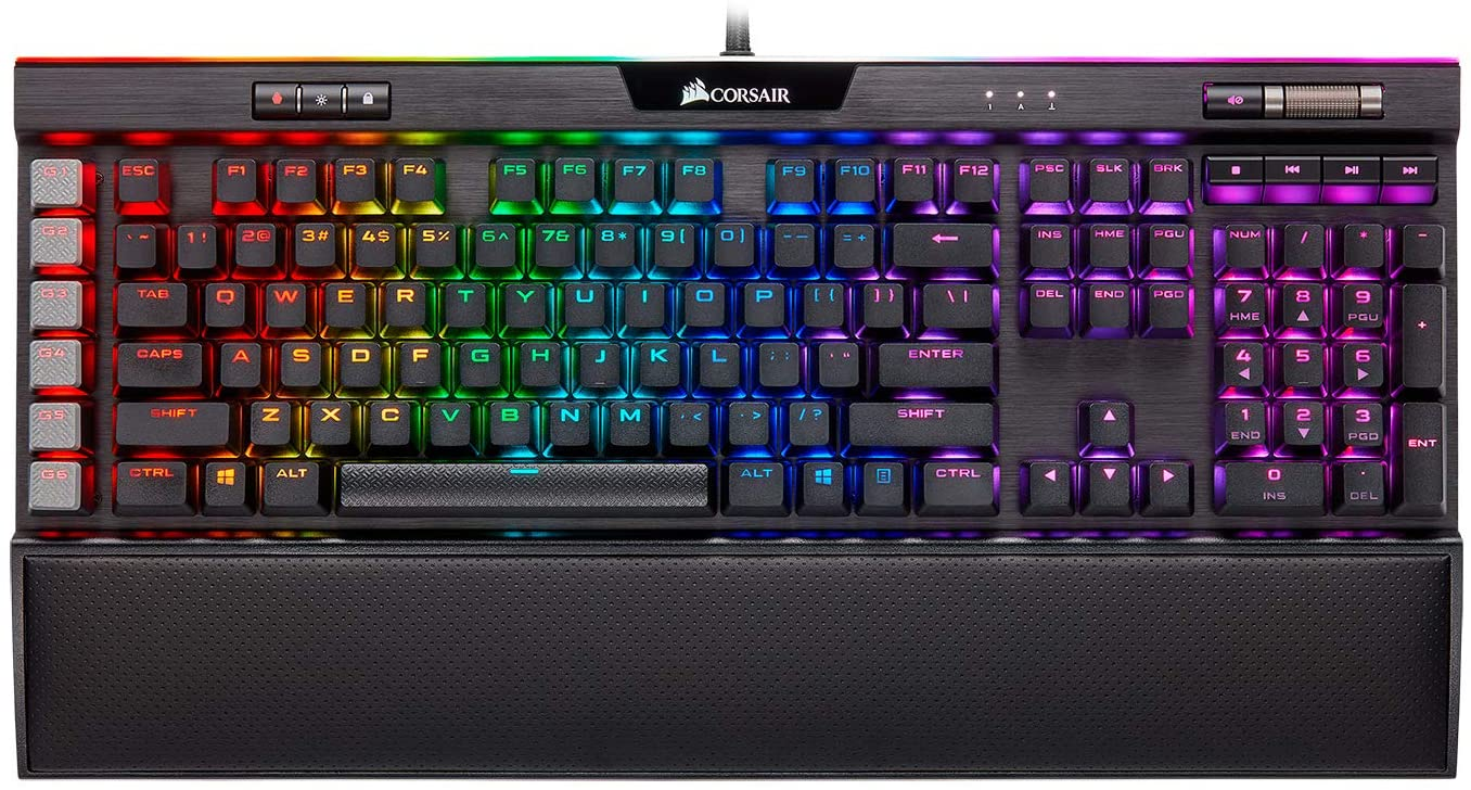 Corsair K95 RGB Platinum XT Mechanical Gaming Keyboard, Backlit RGB LED, Cherry MX RGB Brown, Black