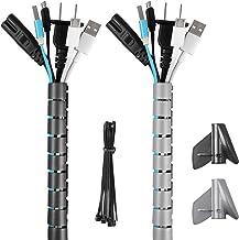 Halovie Kabel-organizer, 2 x 2 m, flexibele beschermhoes, kabel-organizer, kabelopwikkeling of pc, bureau op kantoor, fami...