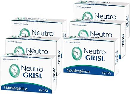 6pk - Neutral Soap - Hypoallergenic - Jabon Neutro - Grisi