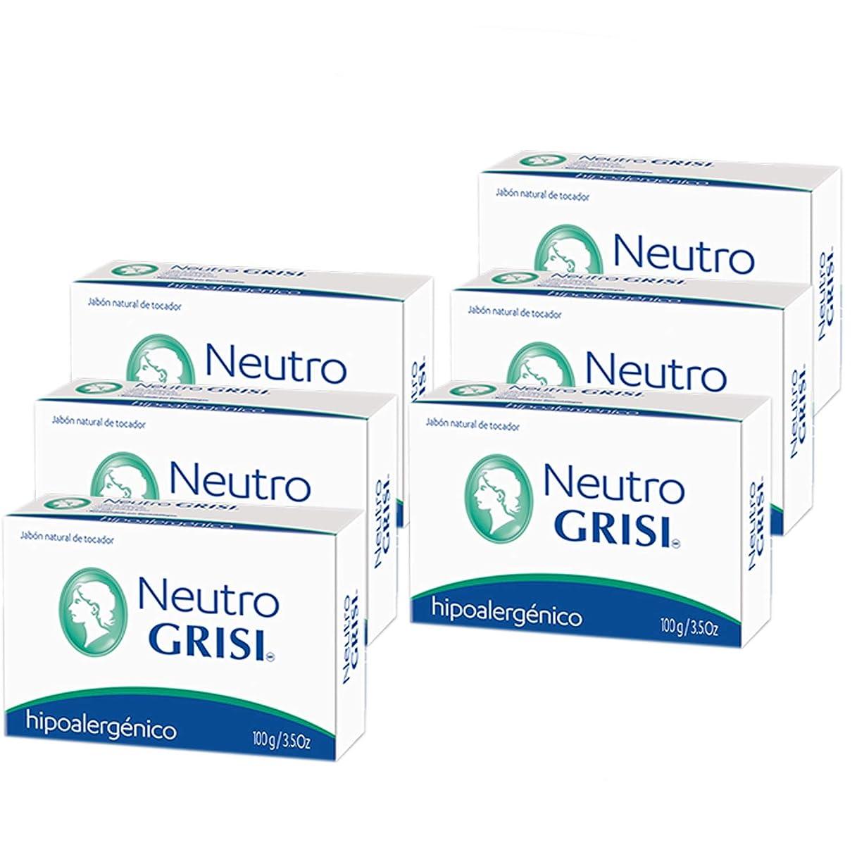悲鳴神経衰弱衝突Grisi 6PK - 中性石鹸 - 低刺激性 - Jabon Neutro -