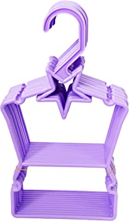 Brittany's 12 Lavender Star Hangers Compatible with American Girl Dolls- 18 Inch Doll Clothes Hangers- Hang Tops and Bottoms