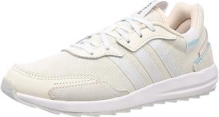حذاء ريترورون للنساء من اديداس, (لون أبيض طبشور / أبيض / وردي), 37 1/3 EU