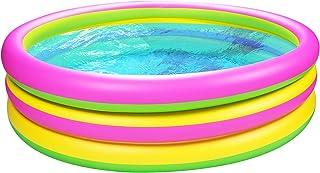 Joyjoz Piscina Inflable de 1,5 m para Niños Piscina Jardín Piscina Verano Juguetes para la Familia al aire Libre Interior