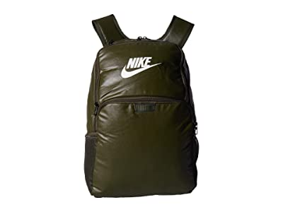 Nike Brasilia MTRL XL Backpack 9.0 (Cargo Khaki/Cargo Khaki/White) Backpack Bags
