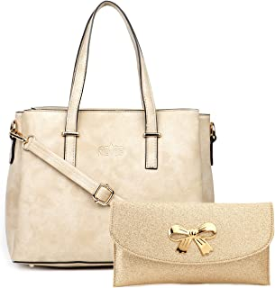 Nevis-Women's Synthetic Leather Casual Satchel/Handbag For Women's [Pack of-02]