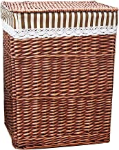 YAYADU Storage Basket Rectangle Rattan Baskets Finishing Box With Cotton Lining Store Toy Pillow Clothes Sundries For Home...