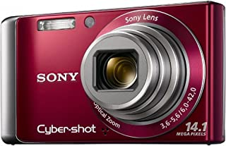 Sony DSC-W370 14.1MP Digital Camera with 7x Wide Angle Zoom with Optical Steady Shot Image Stabilization and 3.0 inch LCD (Red)