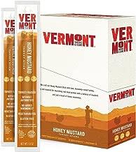 Vermont Smoke & Cure Meat Sticks - Antibiotic Free Turkey Sticks - Gluten-Free Snack - Paleo and Keto Friendly - Nitrate Free - Honey Mustard - 1oz Stick - 24 Count