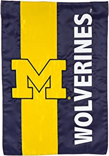 Team Sports America U of Michigan Embellished Garden Flag - 13 x 18 Inches