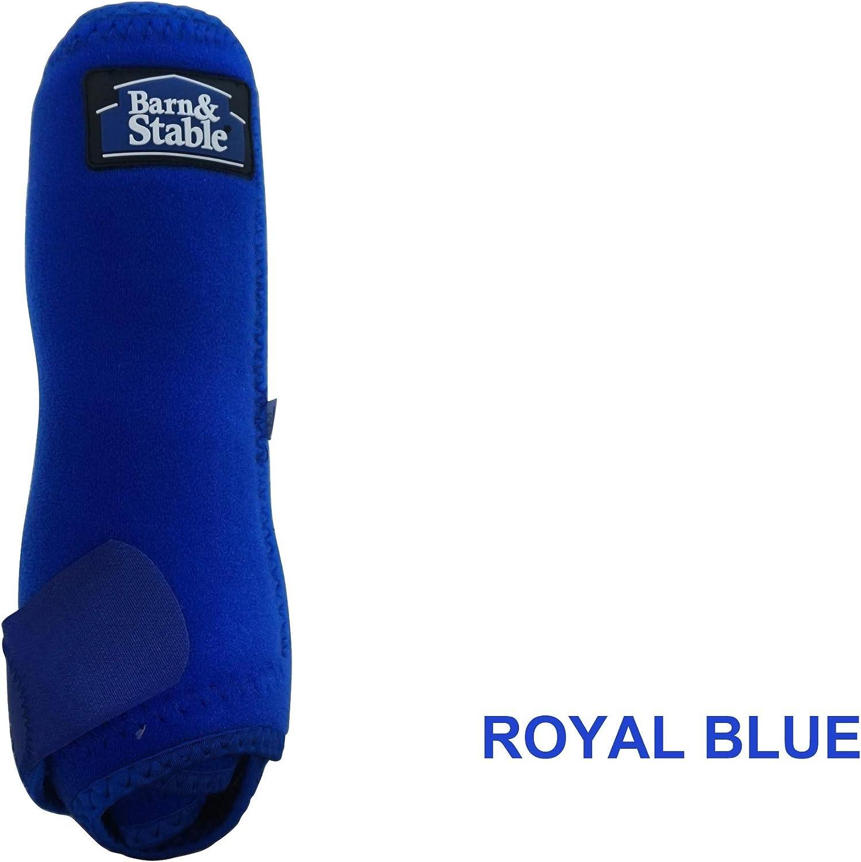 Barn & Stable Horse Sport Boots Set 4 Horse Vented Sport Boots Leg Predection Wrap Medium Royal bluee