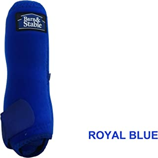 Barn & Stable Horse Sport Boots Set 4 Horse Vented Sport Boots Leg Protection Wrap Medium- Royal Blue