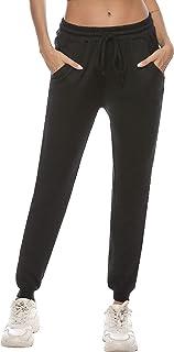 Sykooria Pantaloni Sportivi Donna in Cotone Pantaloni Jogger con Coulisse Pantaloni Piede del Fascio Casual Donne Pantalon...