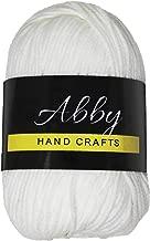 Abby Hand Crafts 100% Milk Cotton Yarn, White, Single Ball 50g / 109 Yards (100m)