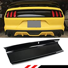 Cuztom Tuning Fits for 2015-18 Ford Mustang Gloss Black Emblem-Delete Plain Trunk Decklid Panel Trim Cover