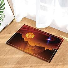 Galaxy Bath Rugs, Scorching Heat Sun Splendor Landscape, Non-Slip Doormat Floor Entryways Indoor Front Door Mat, Kids Bath...