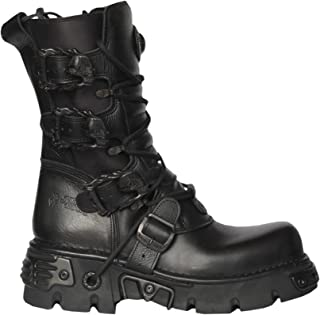 new rock metallic boots