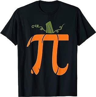 Halloween Pumpkin Pi Math Symbol Design T-Shirt