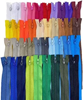 JILIGUALA 39 Color 35cm Tailor Sewing Nylon Coil Closed End Invisible Zippers for DIY Bags,Clothing(13.77 inch)