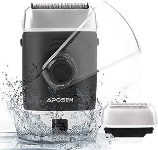 APOSEN Electric Shaver Portable Rechargeable Cordless Foil Electric Razor 120 Mins Battery Shaver...