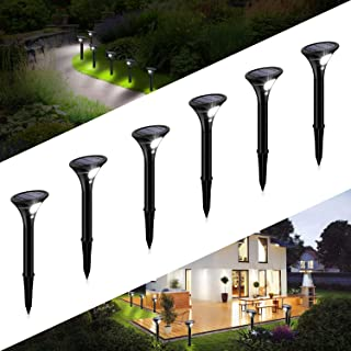 kinglight Lampe Solaire Extérieur Jardin, [6 Pack] Éclairage Solaire avec Detecteur de mouvement, Led Spot Solaire Project...