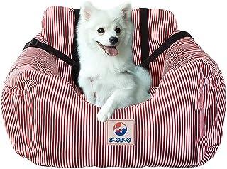 BLOBLO Sitzerhöhung für Hunde,für Kleine bis Mittelgroße Hunde mit Einem Gewicht unter 16kg,mit Seitentasche und Hundeleine, Abnehmbarer und Waschbarer Haustier Sitzbezug,Hunde Auto Reisebett