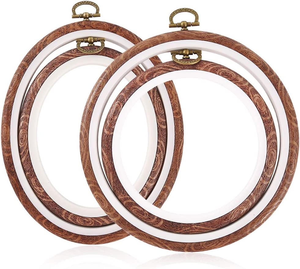 Caydo Memphis Mall 4 Pieces Embroidery Hoops Imitated Max 49% OFF Hoop Stitch Wood Cross