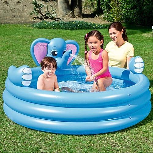 ZXL Aufblasbarer Ring des Elefanten-DREI schaufelnde Pools-Baby-Schwimmbecken