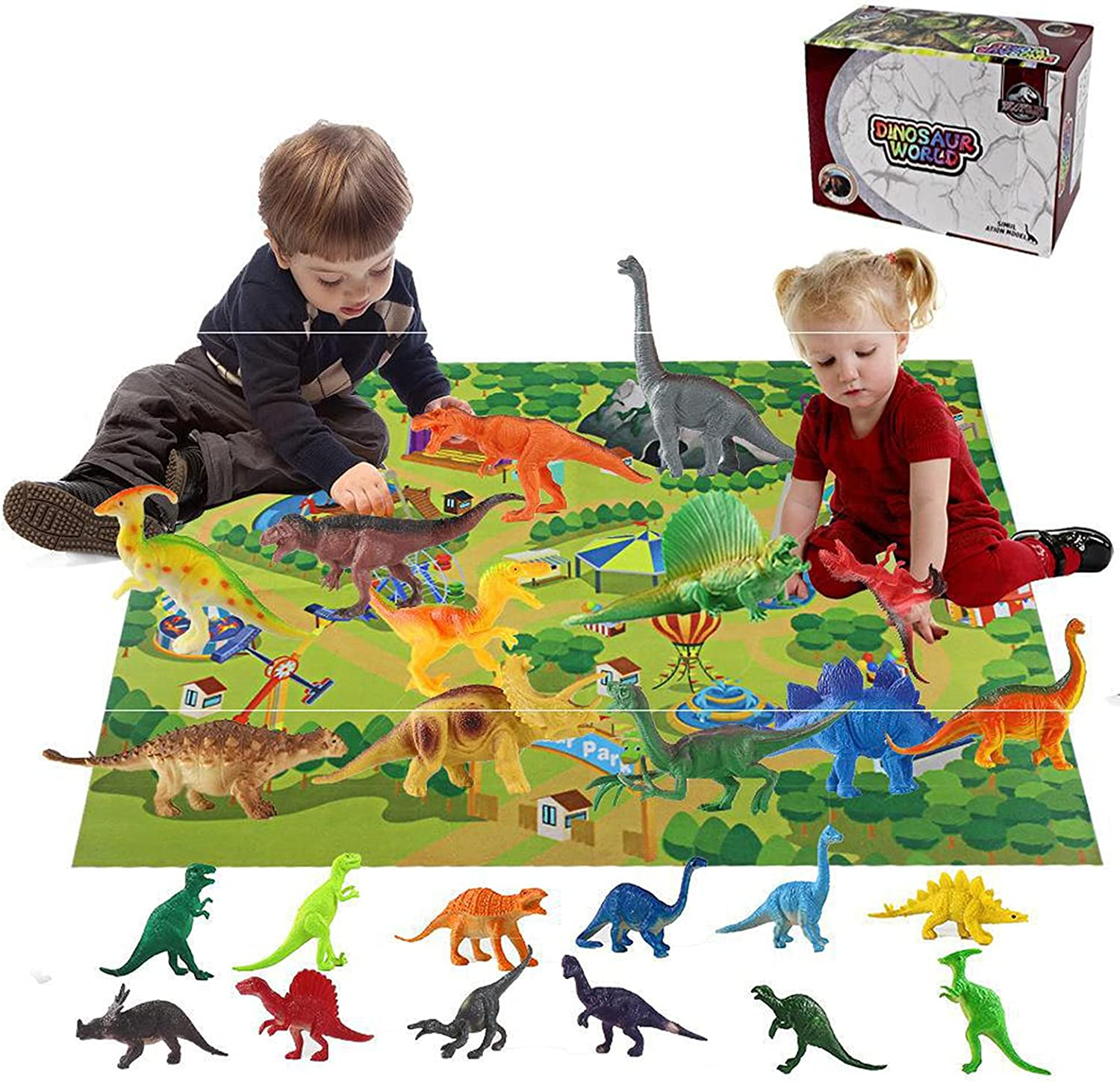 Washington Mall Dinosaur Toy Figure with Activity Sales of SALE items from new works Realistic Play Mat Educational