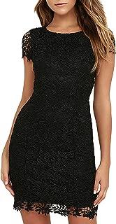 bardot gia lace pencil dress black