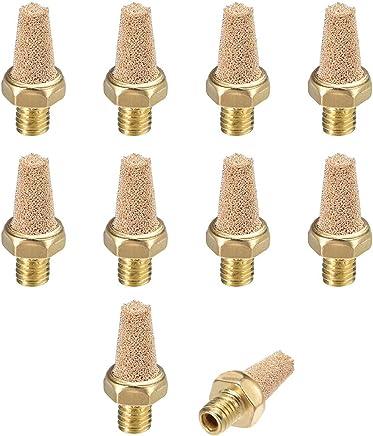 Beduan 3 Pcs Pneumatic Brass Exhaust Muffler Filter 1//8 Male Thread Hex Sintered Silencer Air Line Fitting