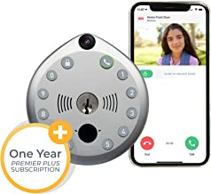 Smart Lock by Gate Labs: WiFi All-in-One Doorbell & Deadbolt | App Enabled, Built-in Camera, Two-Way Talk, Remote Unlock, Live Stream, (Backlit Keyless Entry, Easy Install), Lock + 1Yr Membership