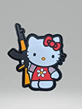 Kalash Hello Kitty Ak-47 PVC Hook-and-Loop Morale Patch USA Tactical