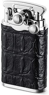 Vintage Lighter, VVAY Old Fashioned Antique Petrol Oil Lighter for Man, Gift Package (Black)