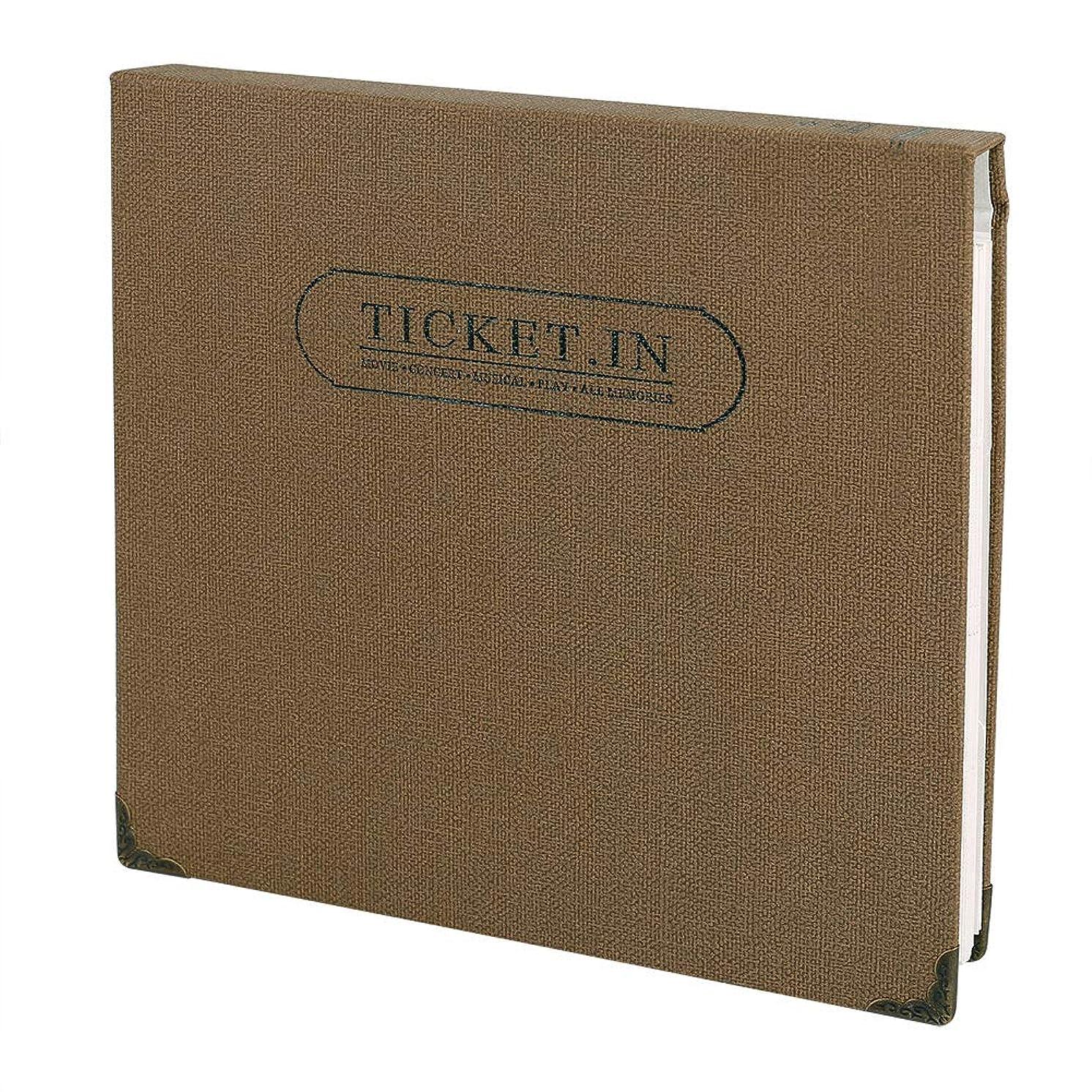 FaCraft Ticket Stud Organizer Album Book,Holds 120 3x6